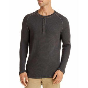 NEW M Singer Henley Charcoal Thermal Long Sleeve M